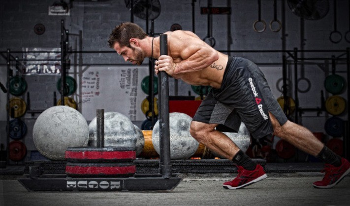 Rich Froning Sled Push