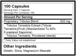 Optimum Nutrition Tribulus Ingredients