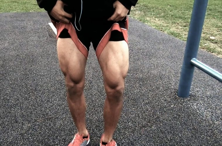 strong legs from calisthenics