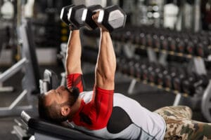 chest workout with a weight bench